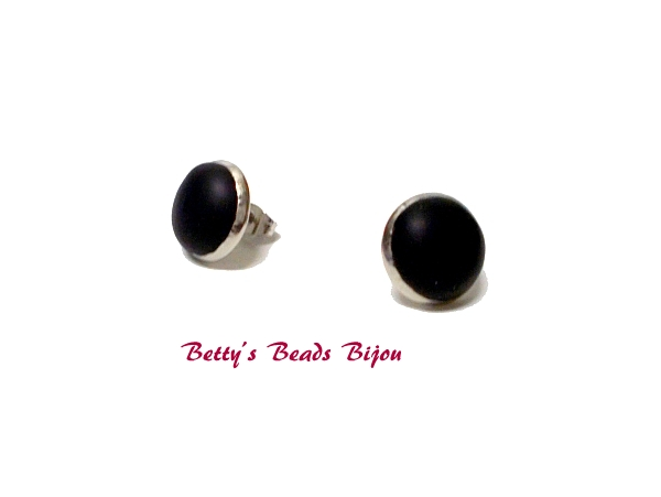 d7e0f3c80 Ocelové náušnice puzety černé | Betty´s Beads Bijou